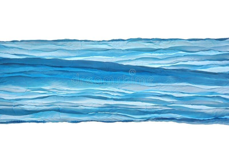 Голубой угол ткани волны выравнивает картину абстрактное текстурированное Backgroun стоковые фото