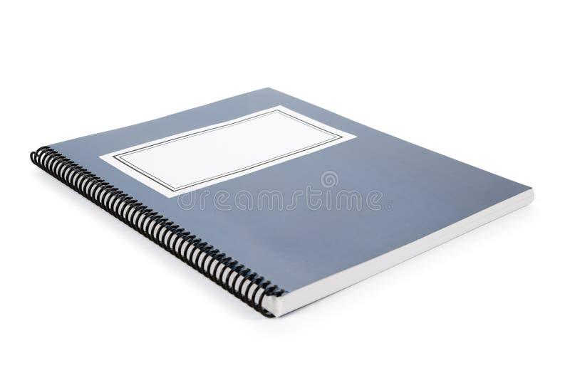 голубой учебник школы стоковые изображения rf