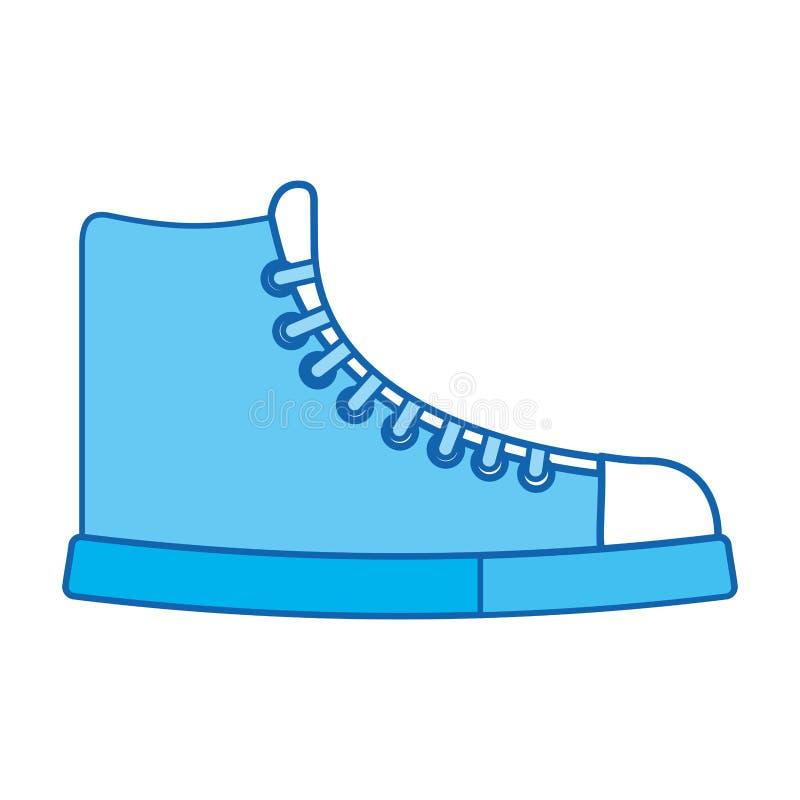 Голубой шарж ботинка значка бесплатная иллюстрация