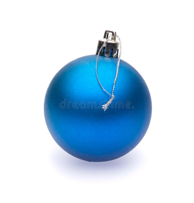 Голубой шарик рождества стоковое фото