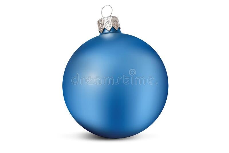 Голубой шарик украшения рождества стоковые фотографии rf