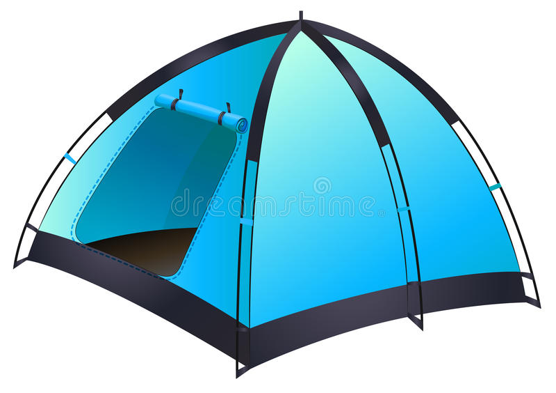 голубой шатер иллюстрация штока