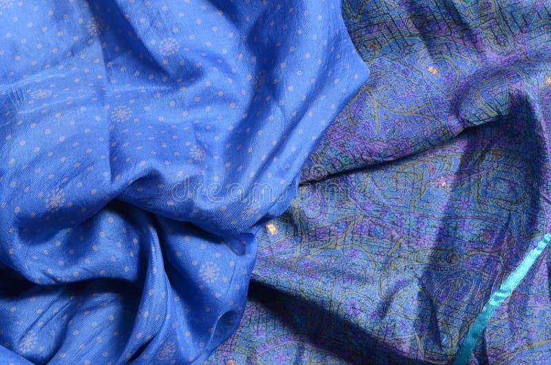 Голубой шелк стоковая фотография rf