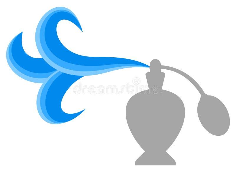 Голубой дым моды иллюстрация штока