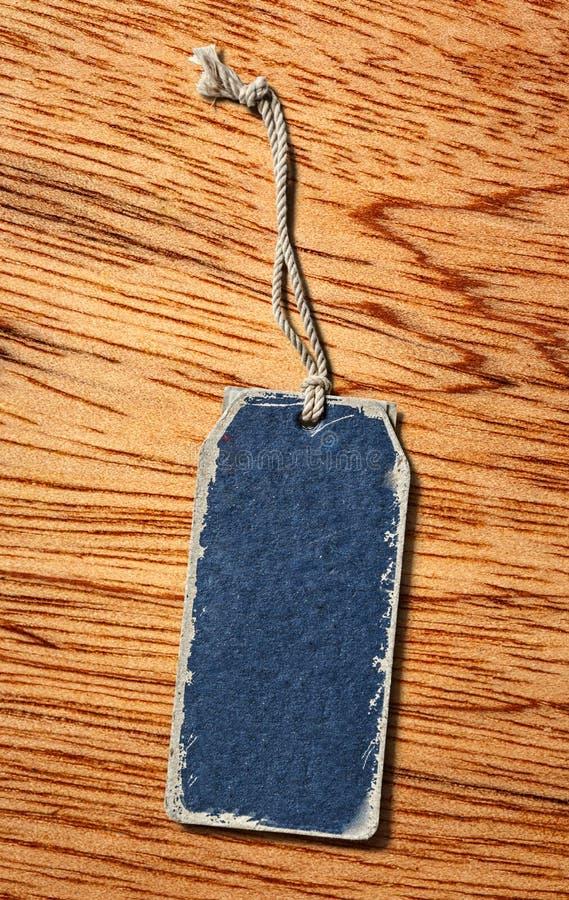 Голубой ярлык чистого листа бумаги стоковая фотография rf