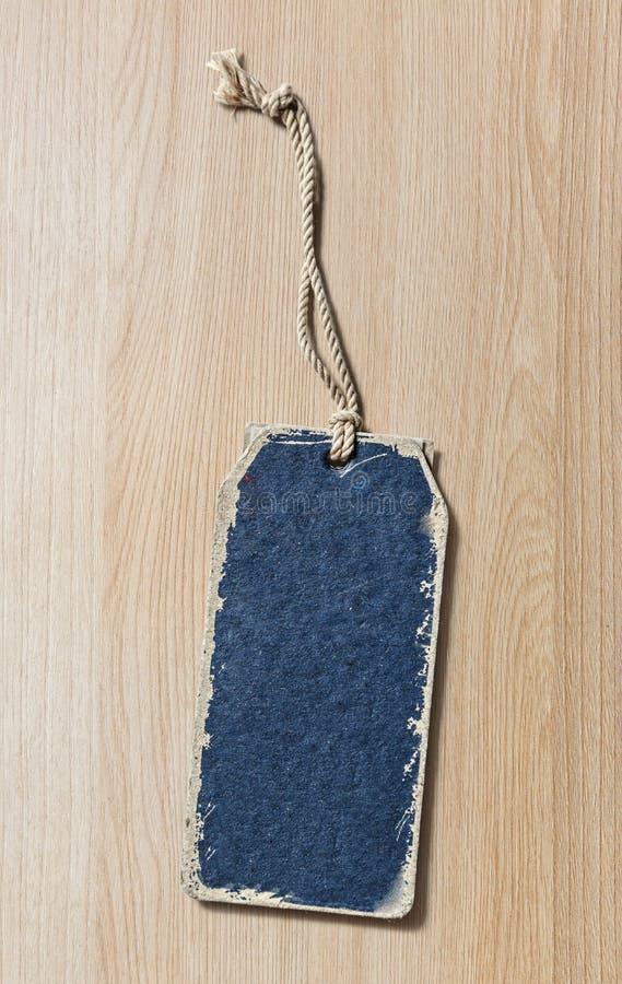 Голубой ярлык чистого листа бумаги стоковые фотографии rf