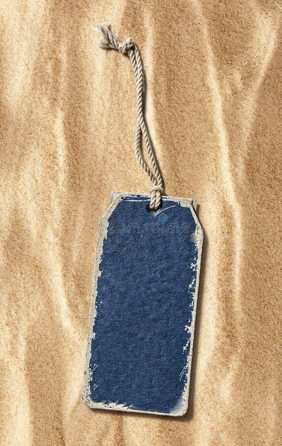Голубой ярлык чистого листа бумаги стоковые фото