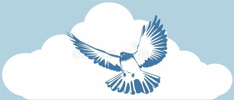 голубой dove бесплатная иллюстрация