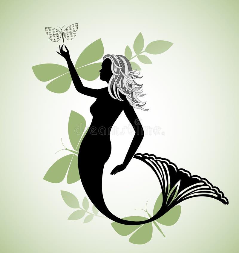 Download голубой mermaid иллюстрация вектора. иллюстрации насчитывающей bodysuits - 41652838