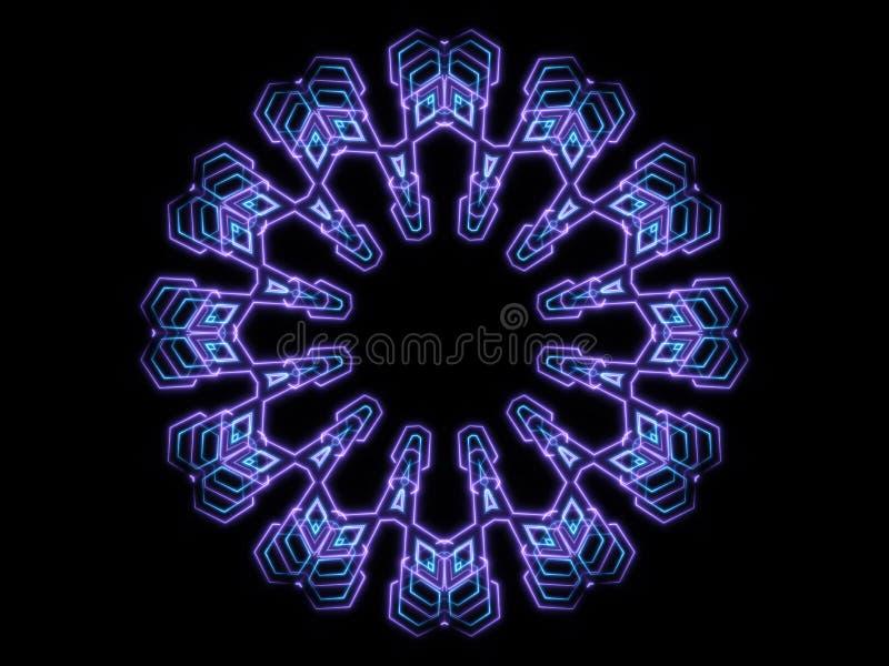 Голубые абстрактные формы и черная предпосылка бесплатная иллюстрация