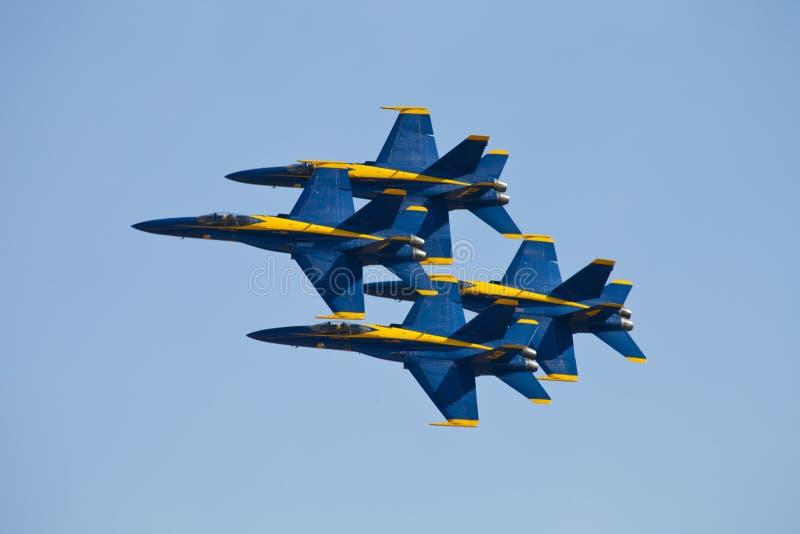 Голубые ангелы Airshow стоковые фотографии rf