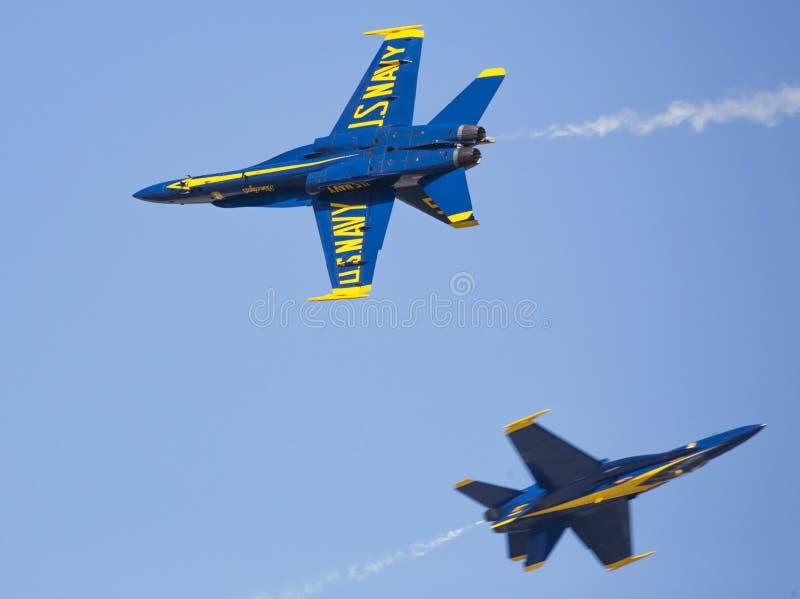 Голубые ангелы F18 стоковое фото rf