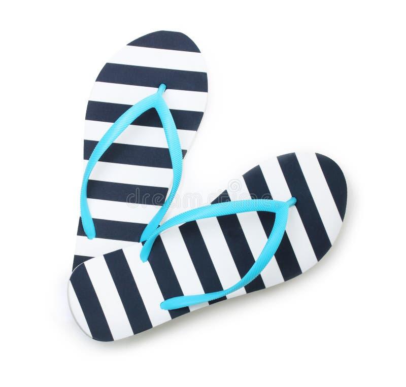 Голубые ботинки пляжа темпового сальто сальто стоковая фотография