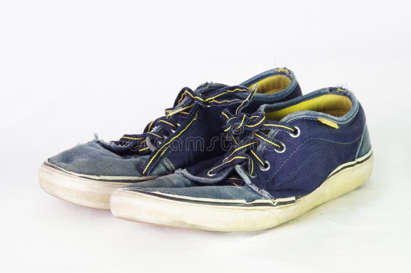 голубые ботинки стоковые изображения rf