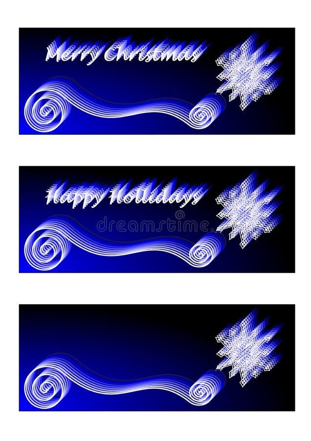 Голубые знамена рождества иллюстрация штока