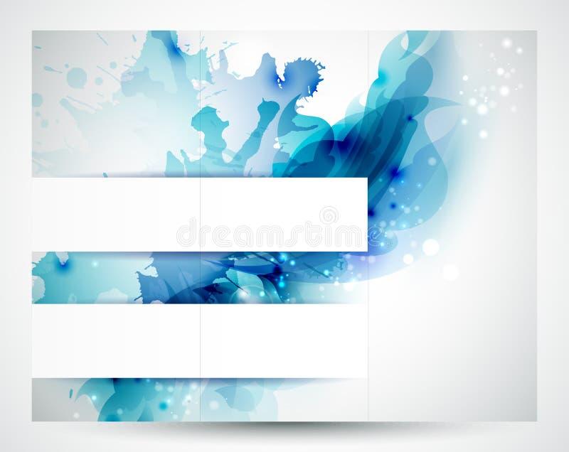 Голубые знамена иллюстрация вектора