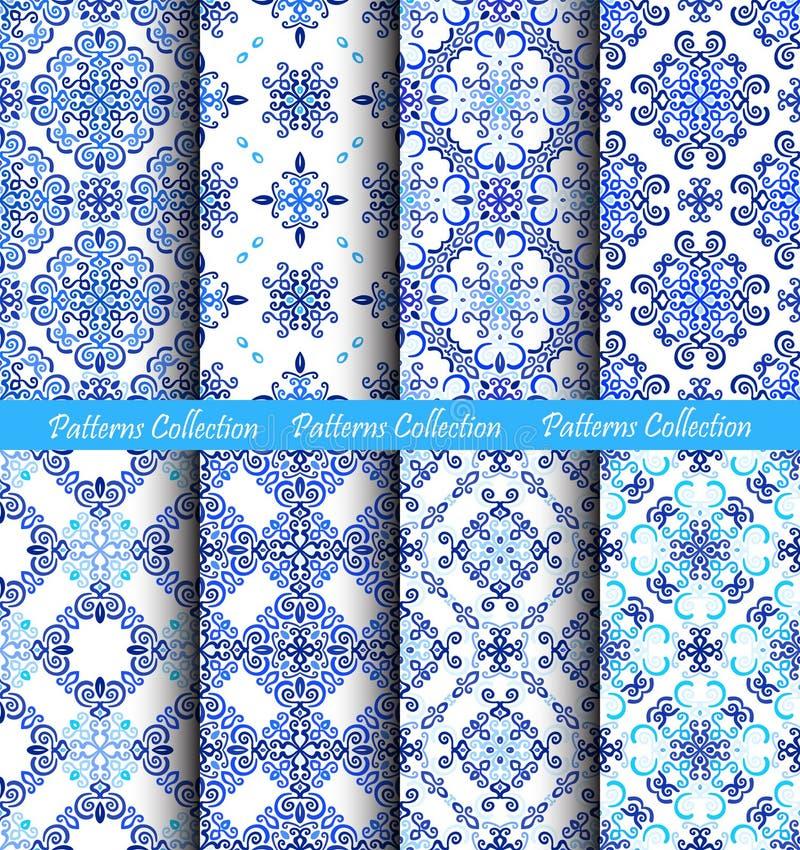 Голубые картины ткани Weave предпосылок иллюстрация штока