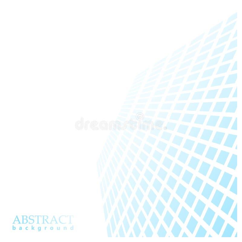Голубые квадраты протягивая в расстояние, перспективу бесплатная иллюстрация