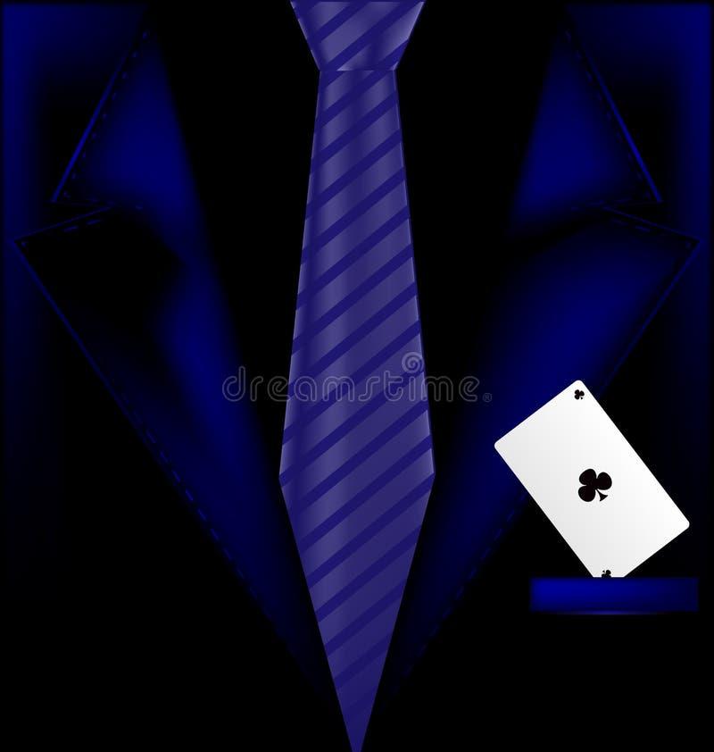 Голубые костюм и туз бесплатная иллюстрация