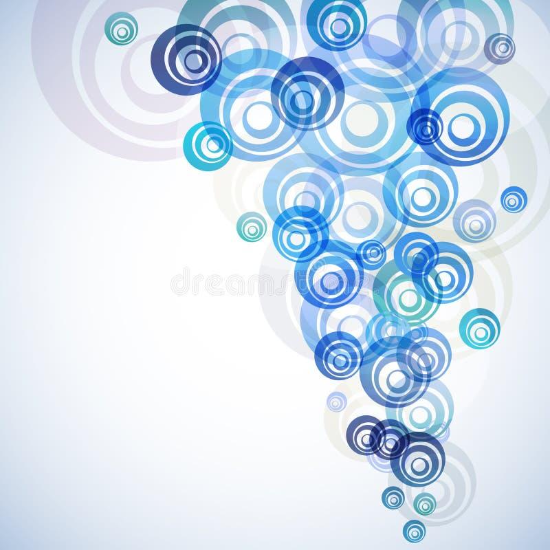 Голубые круги пропускают предпосылка иллюстрация вектора