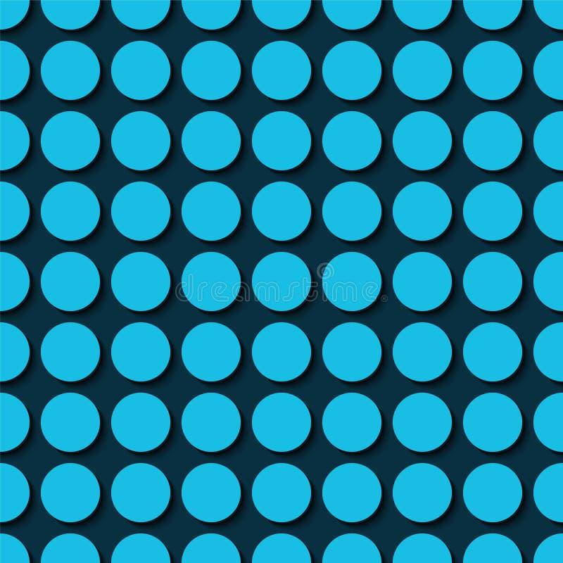 Голубые многоточия польки иллюстрация штока