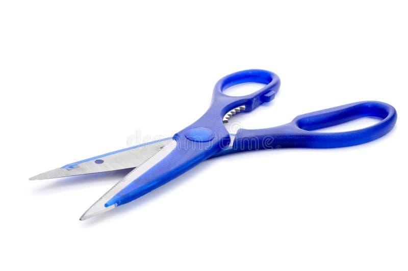 голубые ножницы стоковые фотографии rf