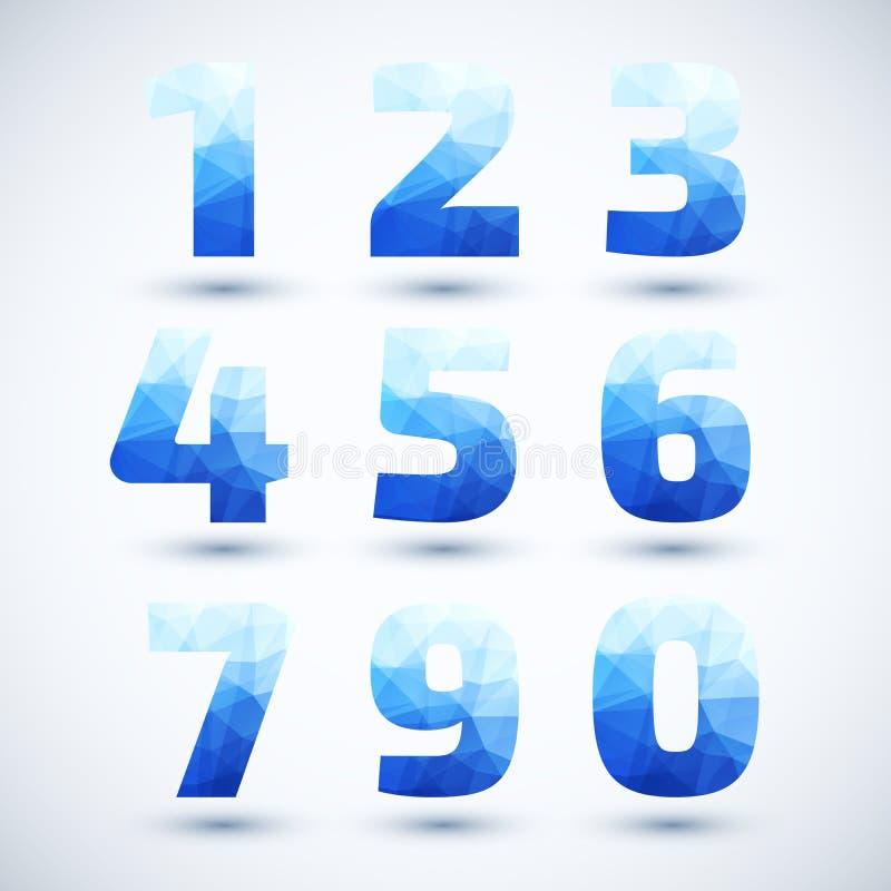 Download Голубые номера установили современный геометрический стиль. Иллюстрация вектора - иллюстрации насчитывающей шикарно, ярлык: 37931093
