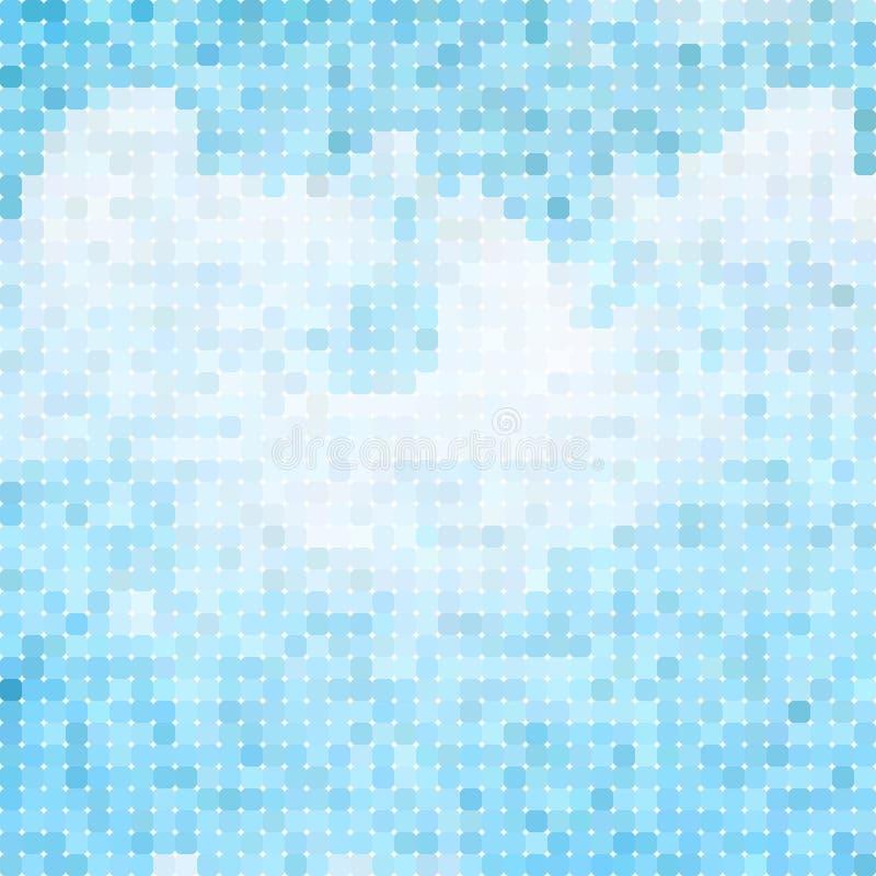 Голубые облака и небо иллюстрация штока
