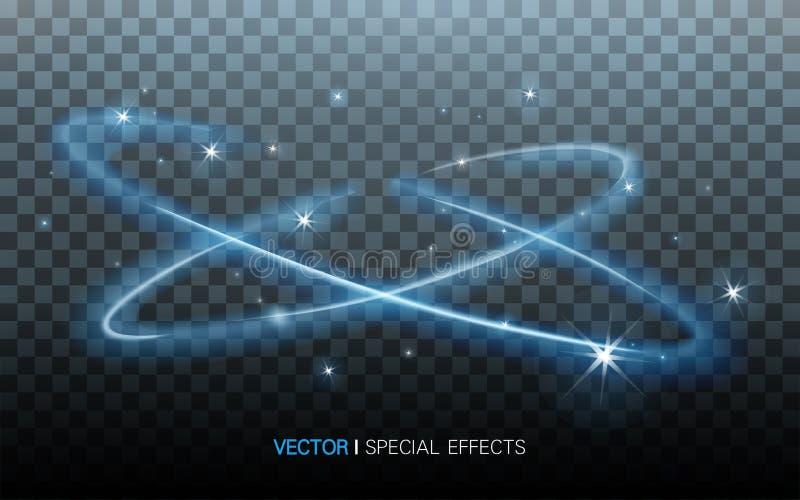 Голубые окружающие света иллюстрация вектора