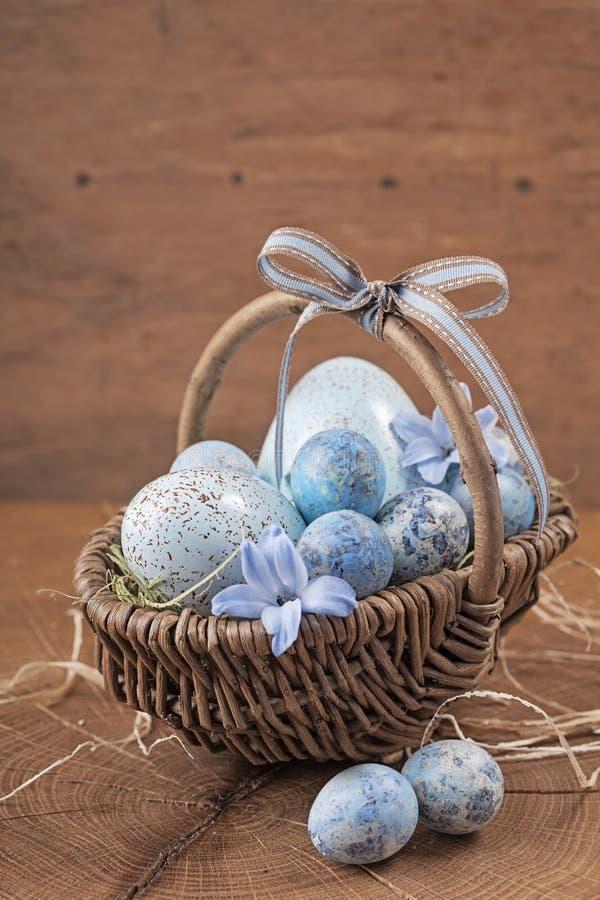 Голубые пасхальные яйца стоковое фото rf