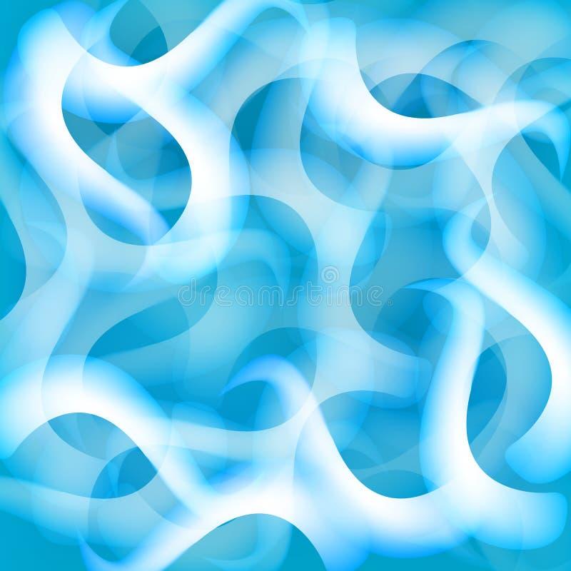 Голубые предпосылки конспекта куба стоковое фото