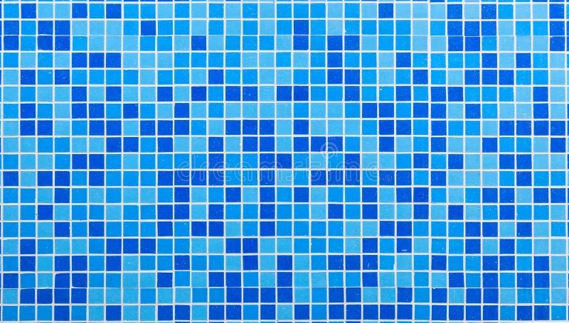 Голубые плитки мозаики стоковые фотографии rf