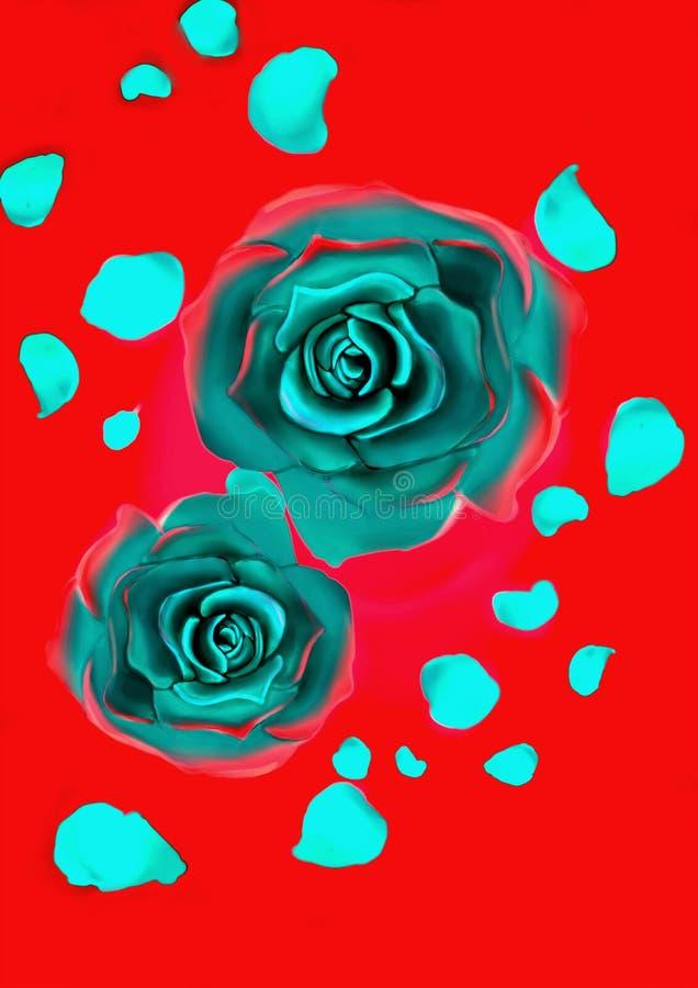 голубые розы стоковая фотография