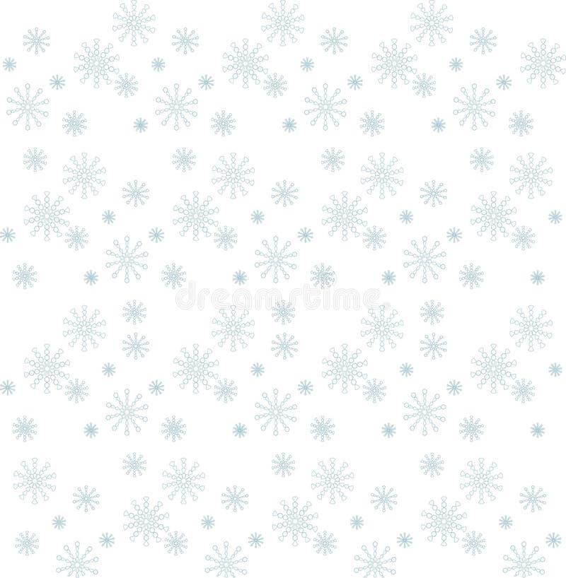 Голубые снежинки на белой предпосылке, текстуре, векторе иллюстрация штока