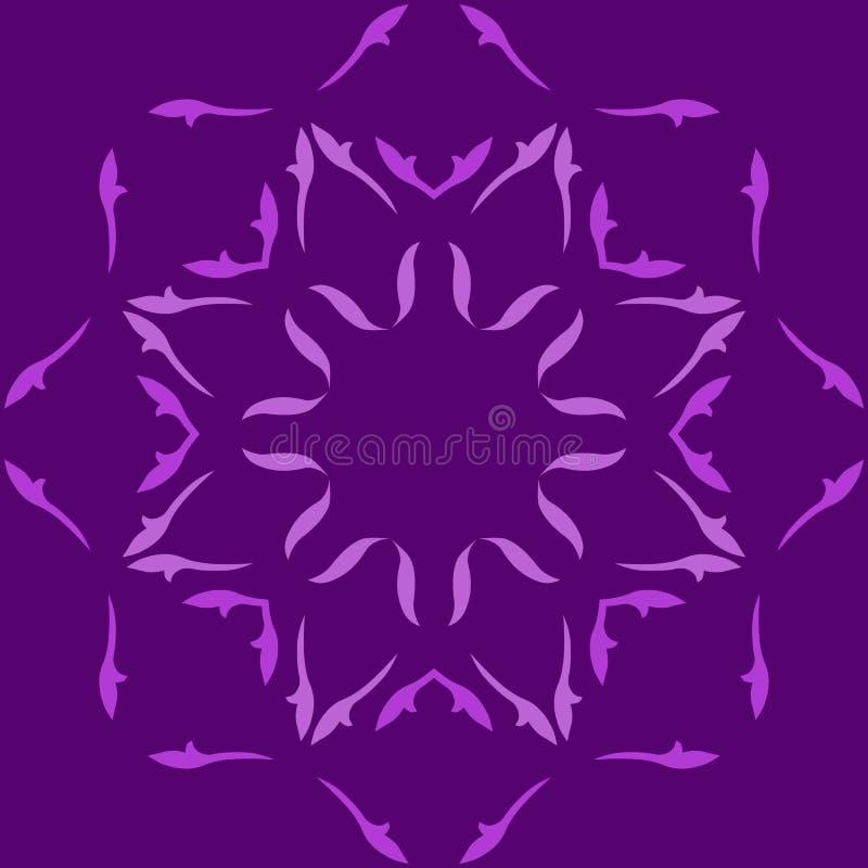 Голубые снежинки орнамента иллюстрация вектора