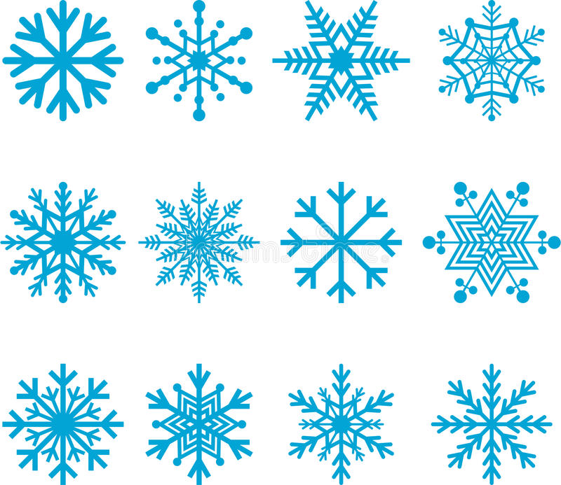 Голубые снежинки бесплатная иллюстрация