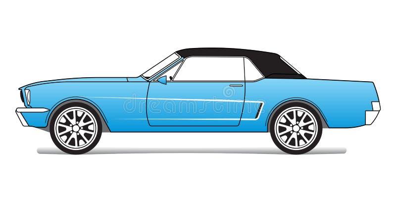 голубые спорты автомобиля иллюстрация вектора