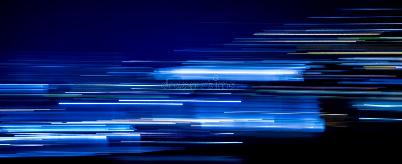 Голубые следы света стоковое фото rf