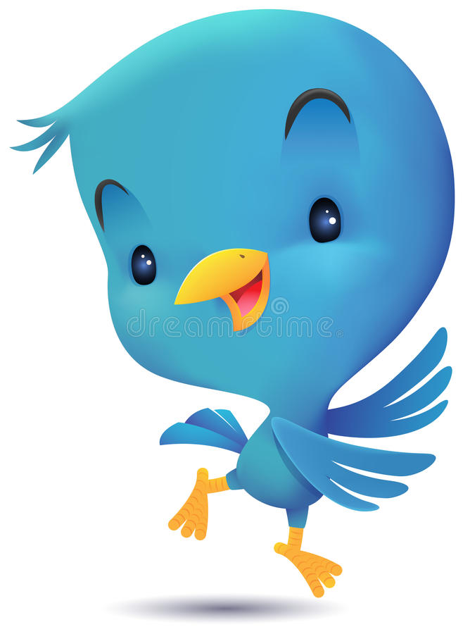 Голубые танцы птицы иллюстрация вектора