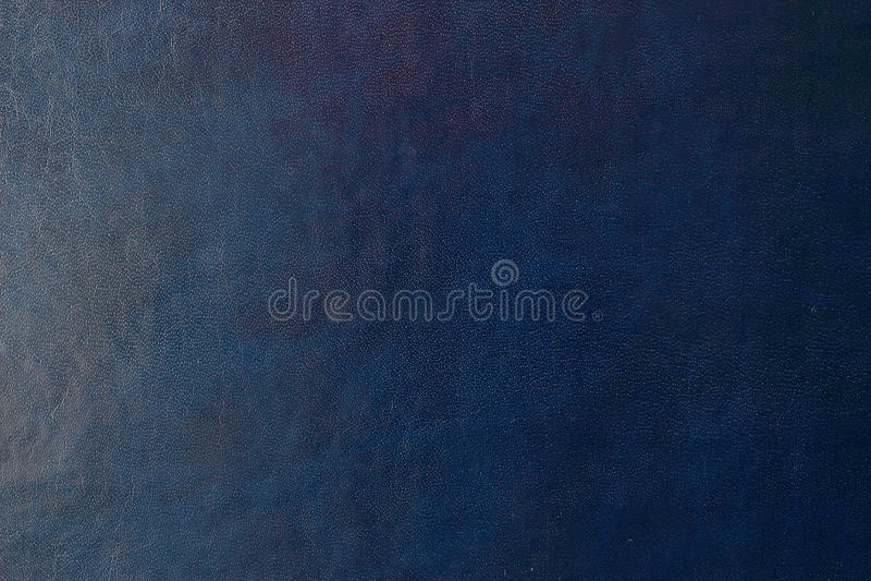 Голубые темные кожаные предпосылка или текстура стоковые изображения rf