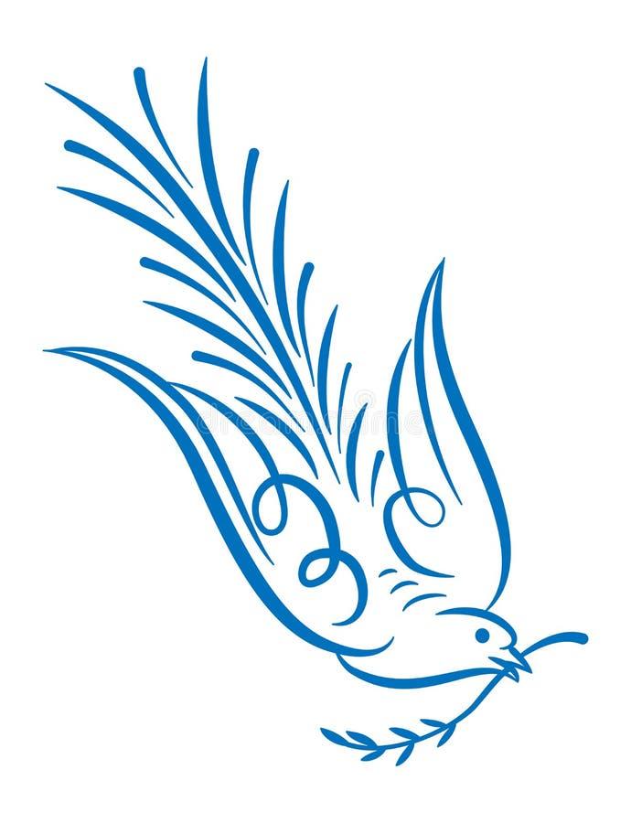 Голубь иллюстрация штока