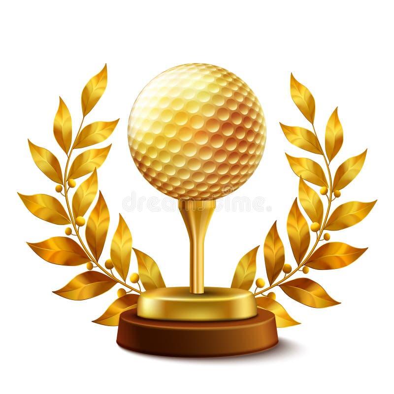 гольф пожалования золотистый иллюстрация вектора