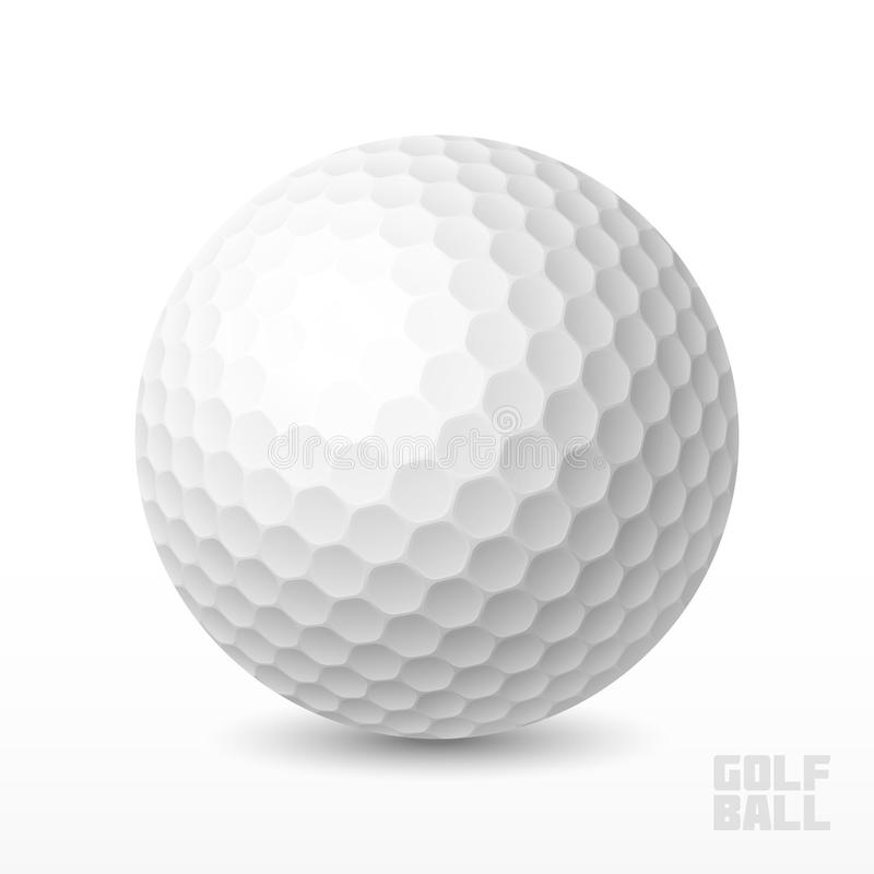 гольф шарика ударяя движение утюга иллюстрация вектора