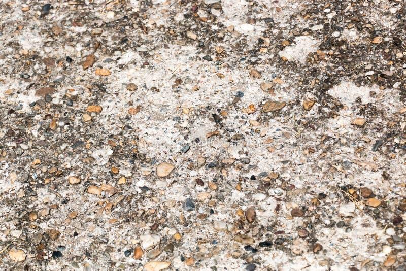 Гравий камешка в бетоне стоковое изображение