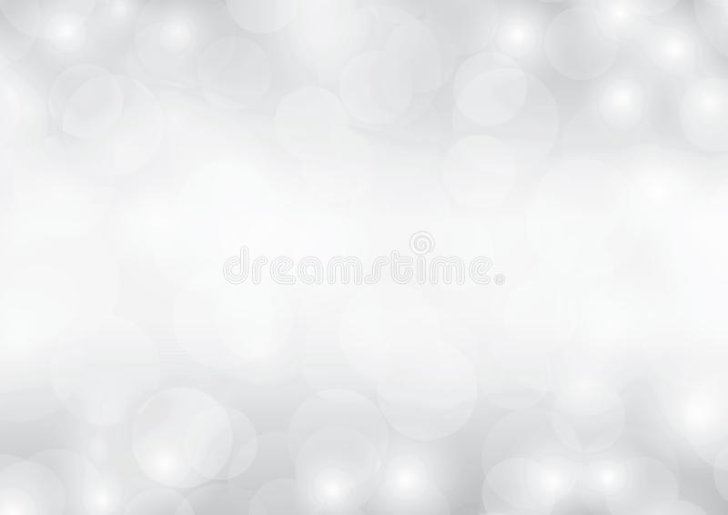 Градиент блестящего роскошного абстрактного света bokeh предпосылки серебра серой белизны сверкная запачканный бесплатная иллюстрация