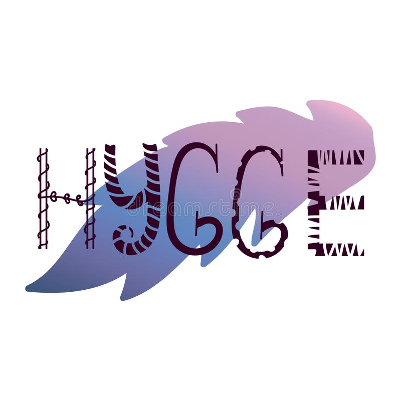 Градиент Hygge иллюстрация вектора