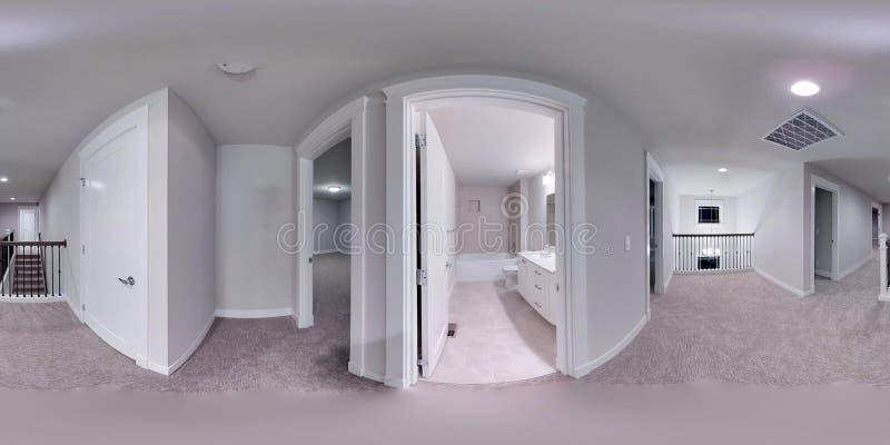 градусов иллюстрации 3d сферически 360, безшовная панорама дома иллюстрация вектора