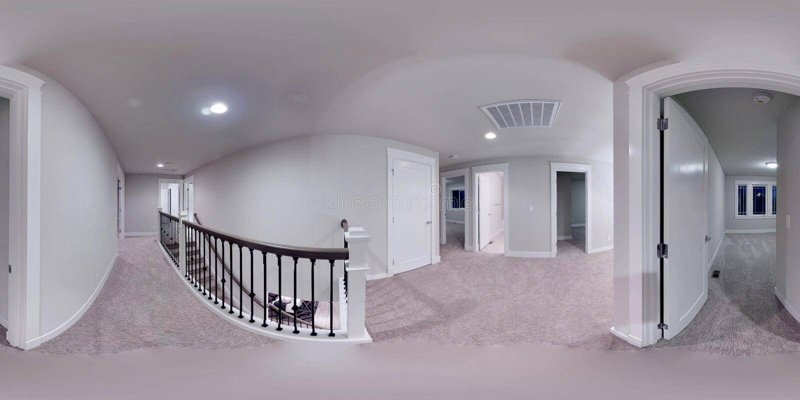 градусов иллюстрации 3d сферически 360, безшовная панорама дома бесплатная иллюстрация