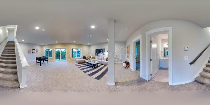 градусов иллюстрации 3d сферически 360, безшовная панорама дома иллюстрация штока