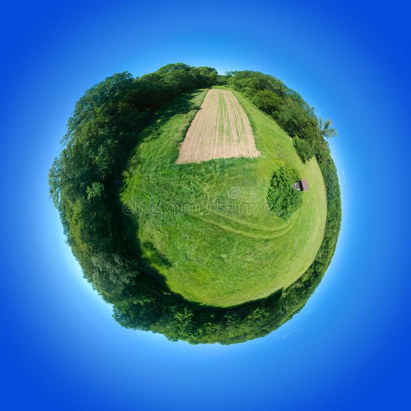 360 градусов юга Германии луга сферически панорамы сельского стоковое изображение